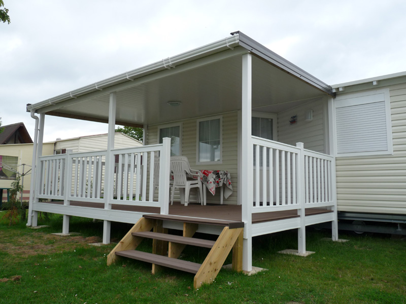 Terrasses de mobile home bois et composite ACS